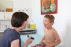 2021 02 12 Schuleingangsuntersuchung mit Kinderärztin Heidrun Schilling